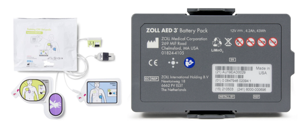 Aed 3 Electrode & Battery